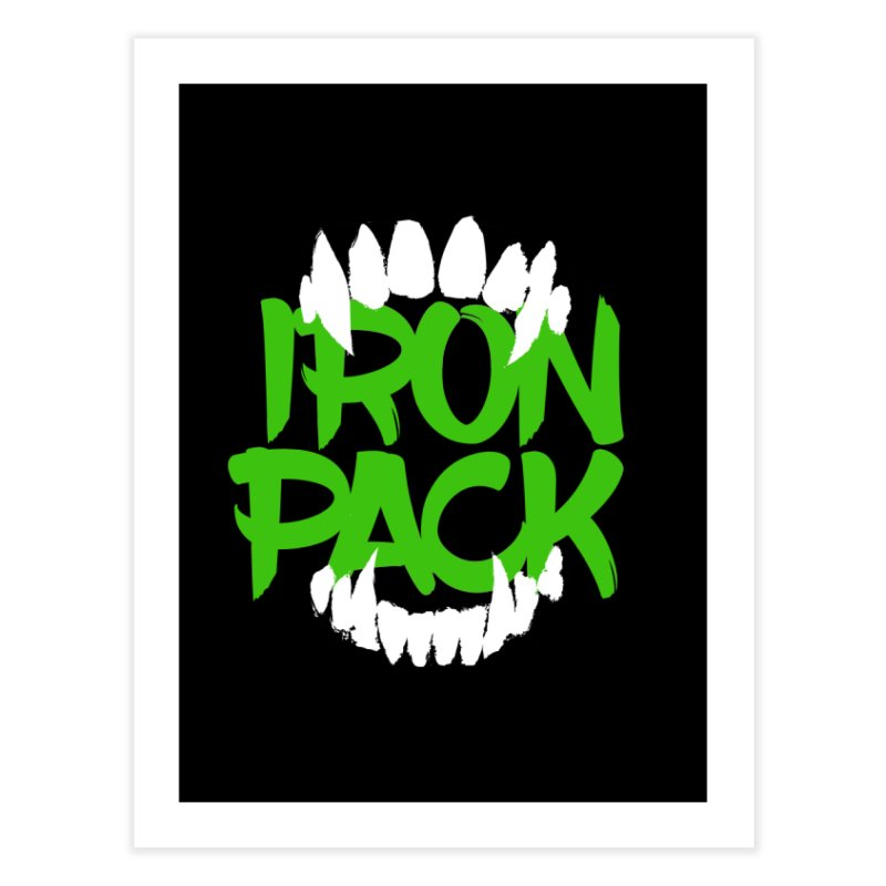Iron Pack - Green Home Fine Art Print by My Shirty Life