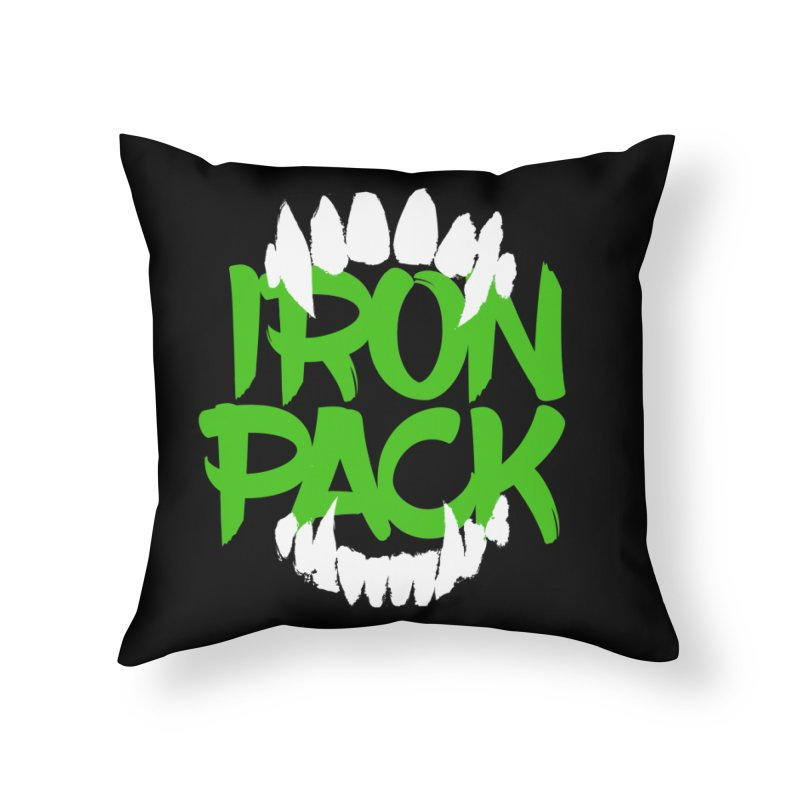 Iron Pack - Green Home Throw Pillow by My Shirty Life