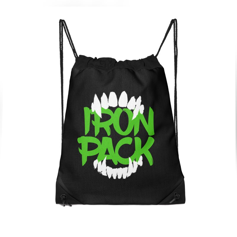 Iron Pack - Green Accessories Drawstring Bag Bag by My Shirty Life