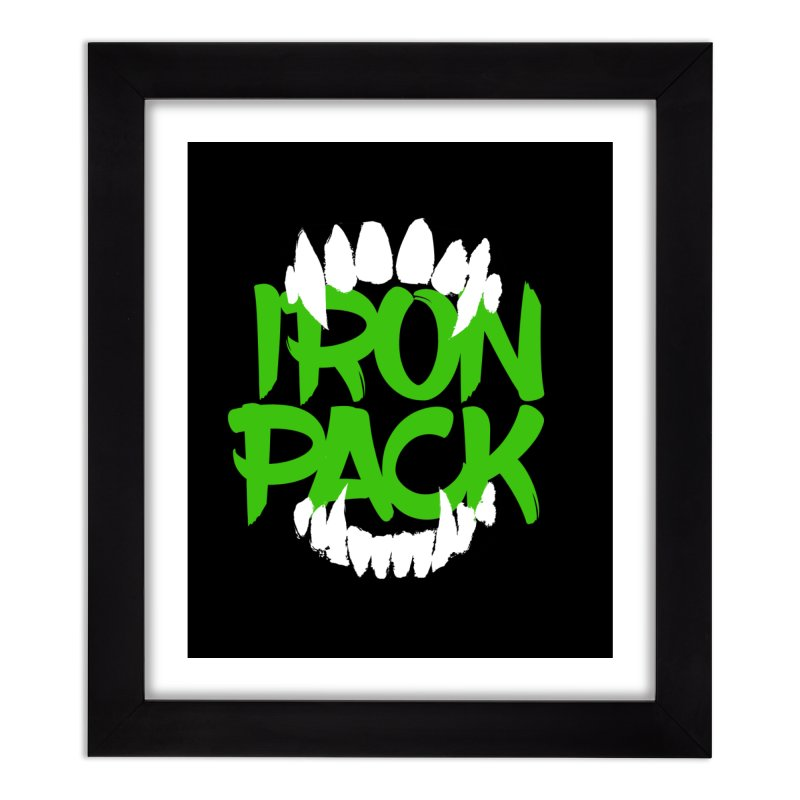 Iron Pack - Green Home Framed Fine Art Print by My Shirty Life