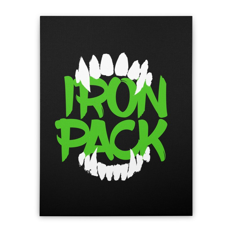 Iron Pack - Green Home Stretched Canvas by My Shirty Life