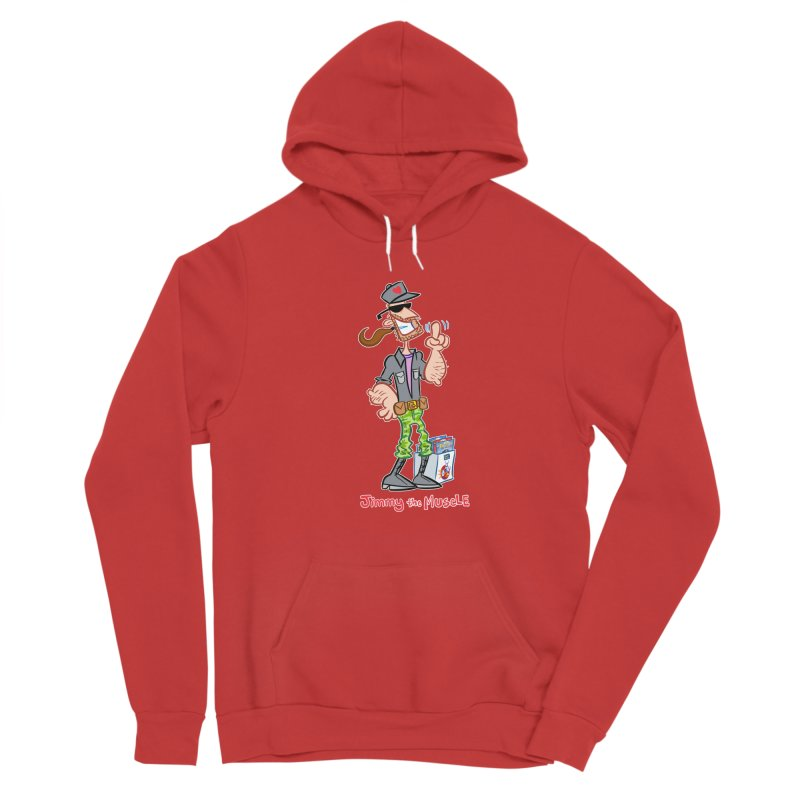 JIMMY THE MUSCLE Men's Pullover Hoody by Art Baltazar