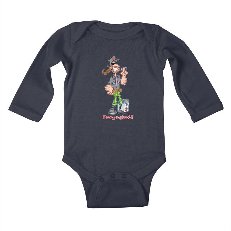 JIMMY THE MUSCLE Kids Baby Longsleeve Bodysuit by Art Baltazar