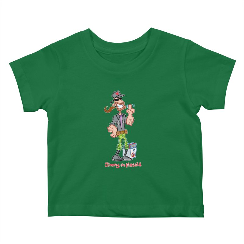 JIMMY THE MUSCLE Kids Baby T-Shirt by Art Baltazar