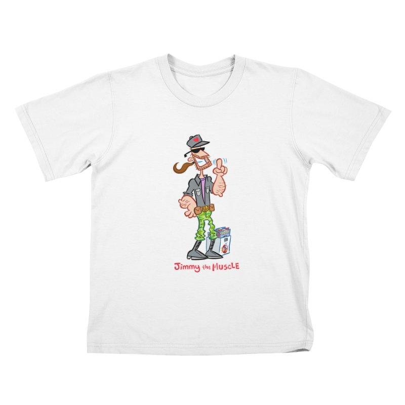 JIMMY THE MUSCLE Kids T-Shirt by Art Baltazar