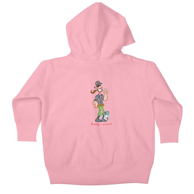 JIMMY THE MUSCLE Kids Baby Zip-Up Hoody by Art Baltazar