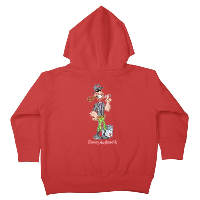 JIMMY THE MUSCLE Kids Toddler Zip-Up Hoody by Art Baltazar