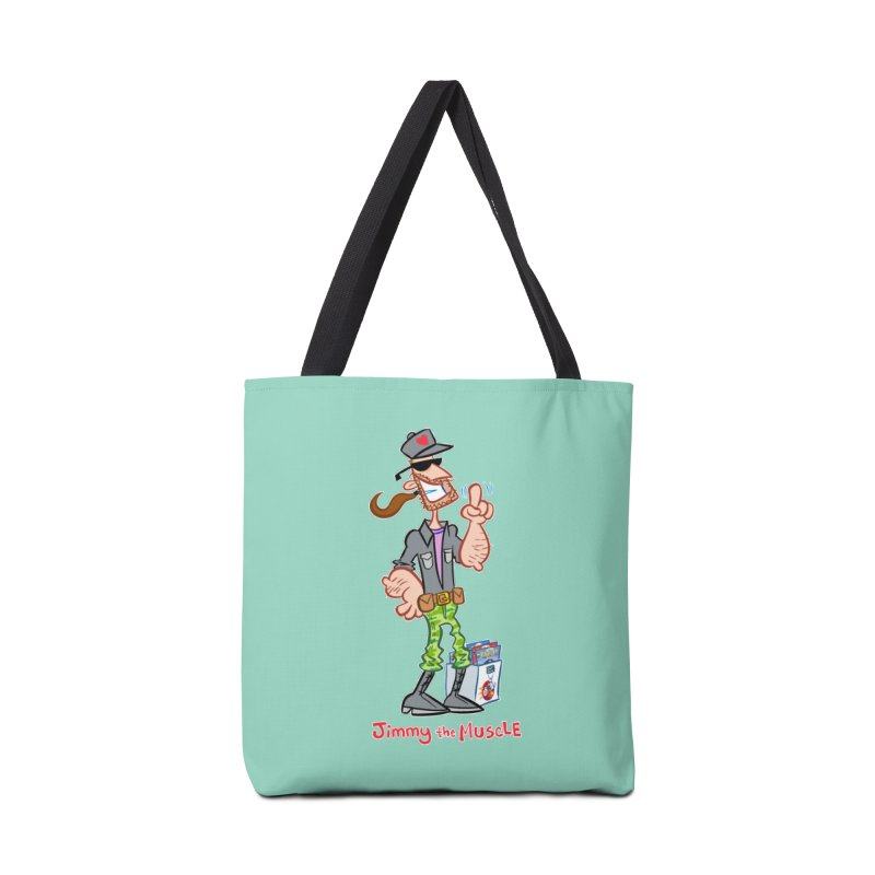 JIMMY THE MUSCLE Accessories Bag by Art Baltazar