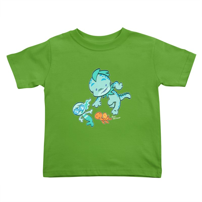 GILLBERT the Little MERMAN & Friends Kids Toddler T-Shirt by Art Baltazar