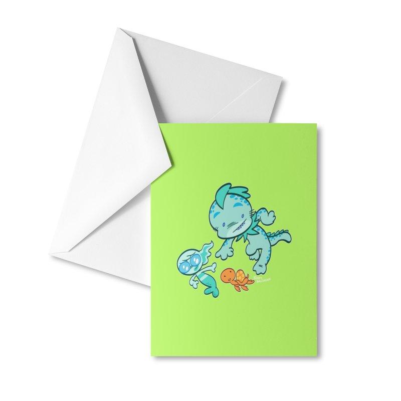 GILLBERT the Little MERMAN & Friends Accessories Greeting Card by Art Baltazar