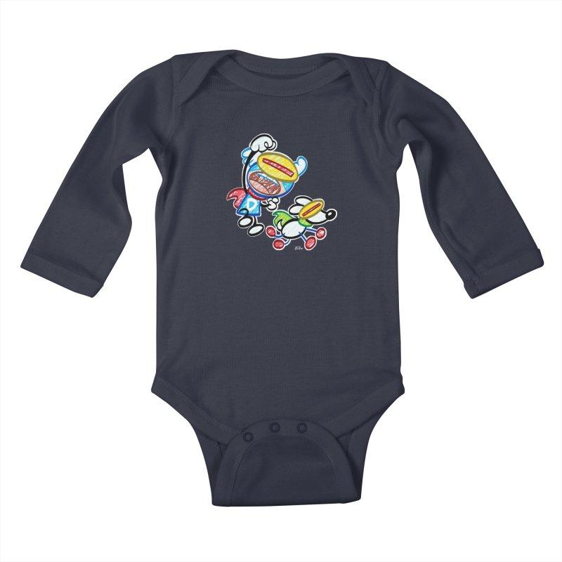 DREW & JOT Kids Baby Longsleeve Bodysuit by Art Baltazar