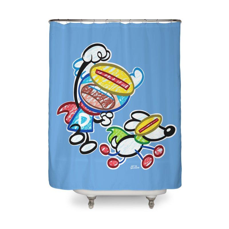 DREW & JOT Home Shower Curtain by Art Baltazar