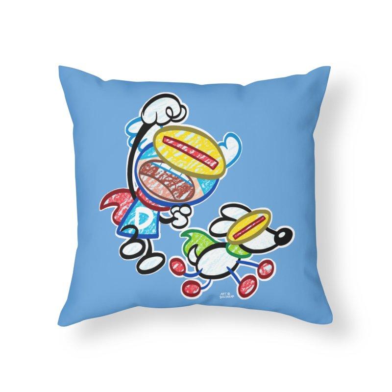 DREW & JOT Home Throw Pillow by Art Baltazar
