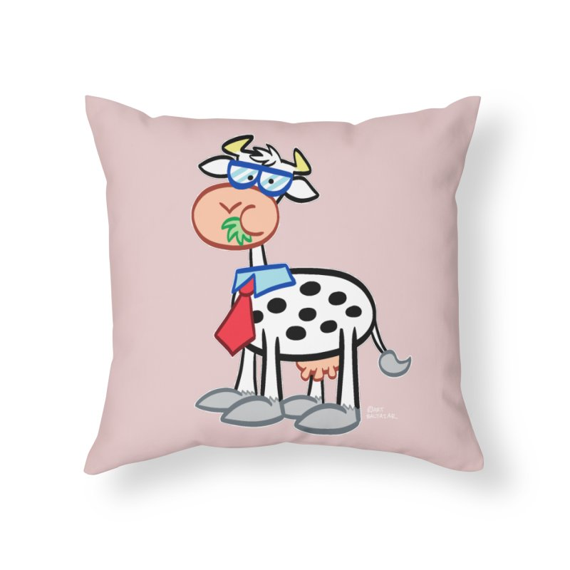 SECRET IDENTITY COW Home Throw Pillow by Art Baltazar