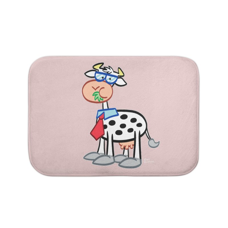 SECRET IDENTITY COW Home Bath Mat by Art Baltazar