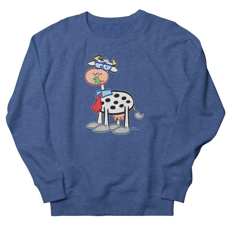 SECRET IDENTITY COW Men's Sweatshirt by Art Baltazar