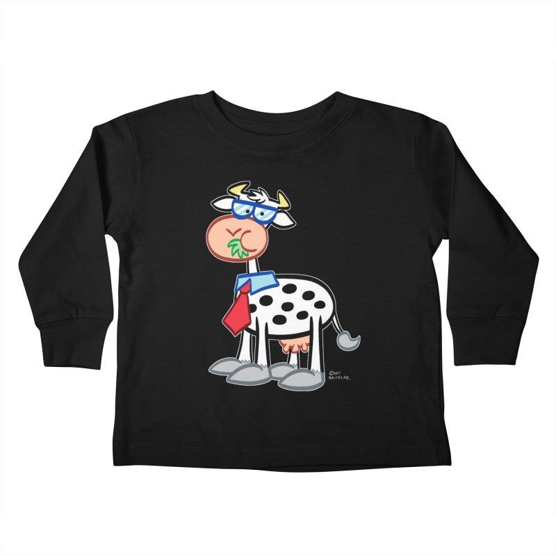 SECRET IDENTITY COW Kids Toddler Longsleeve T-Shirt by Art Baltazar