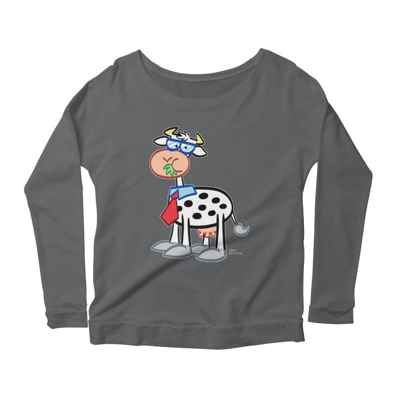 SECRET IDENTITY COW Women's Longsleeve T-Shirt by Art Baltazar