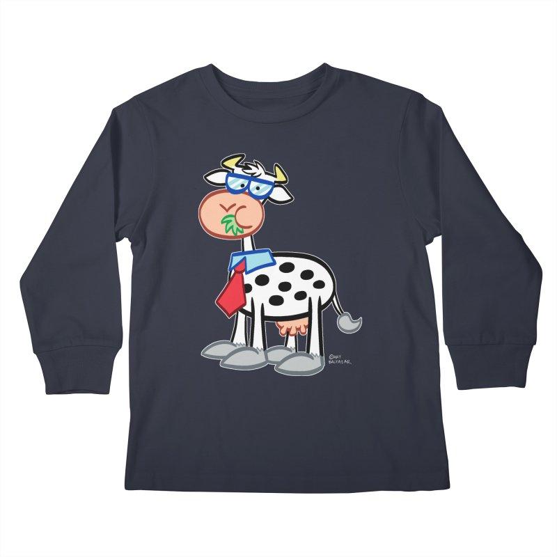 SECRET IDENTITY COW Kids Longsleeve T-Shirt by Art Baltazar