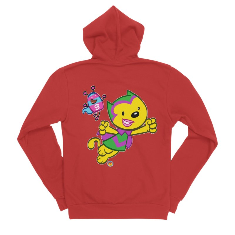 ACTION CAT & SHELLY Women's Zip-Up Hoody by Art Baltazar