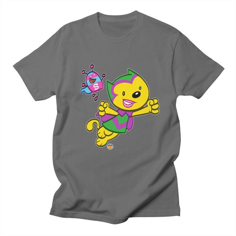 ACTION CAT & SHELLY Men's T-Shirt by Art Baltazar
