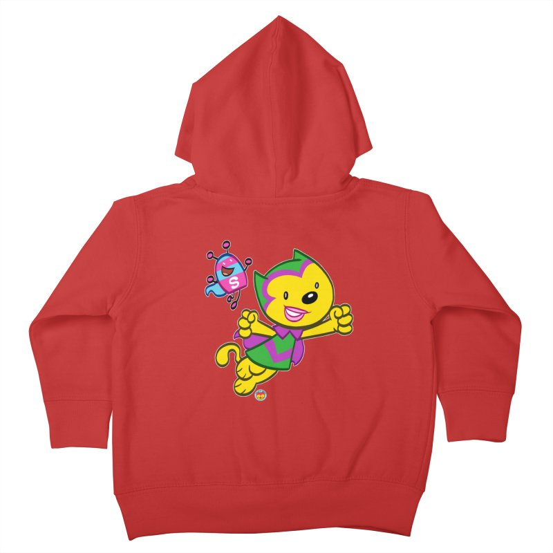 ACTION CAT & SHELLY Kids Toddler Zip-Up Hoody by Art Baltazar