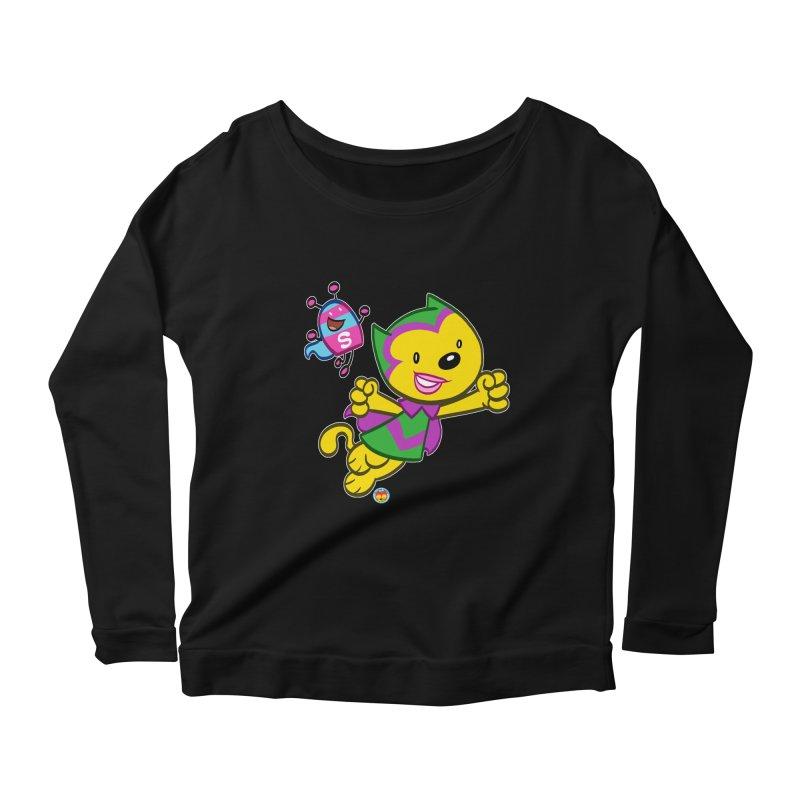 ACTION CAT & SHELLY Women's Longsleeve T-Shirt by Art Baltazar