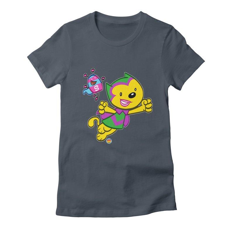 ACTION CAT & SHELLY Women's T-Shirt by Art Baltazar
