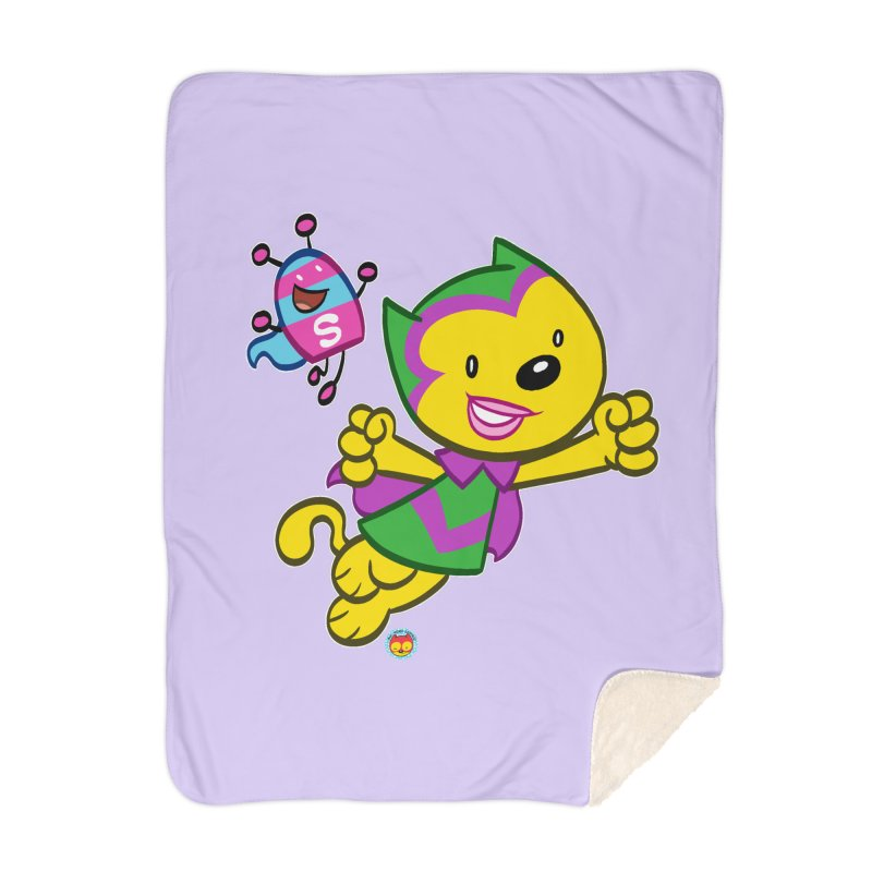 ACTION CAT & SHELLY Home Blanket by Art Baltazar