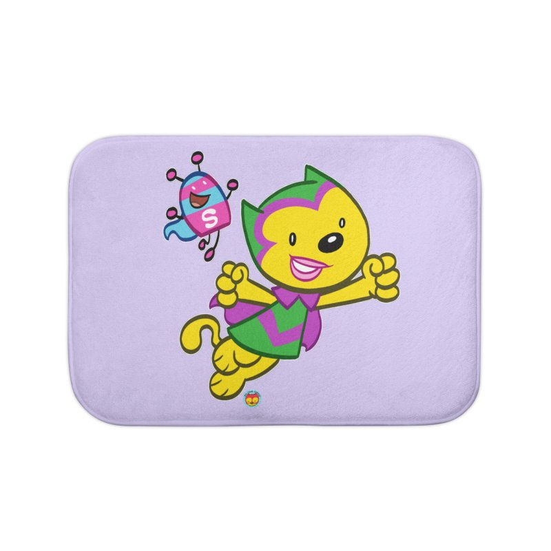 ACTION CAT & SHELLY Home Bath Mat by Art Baltazar