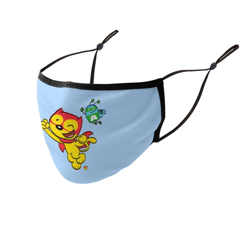ACTION CAT & ADVENTURE BUG Accessories Face Mask by Art Baltazar