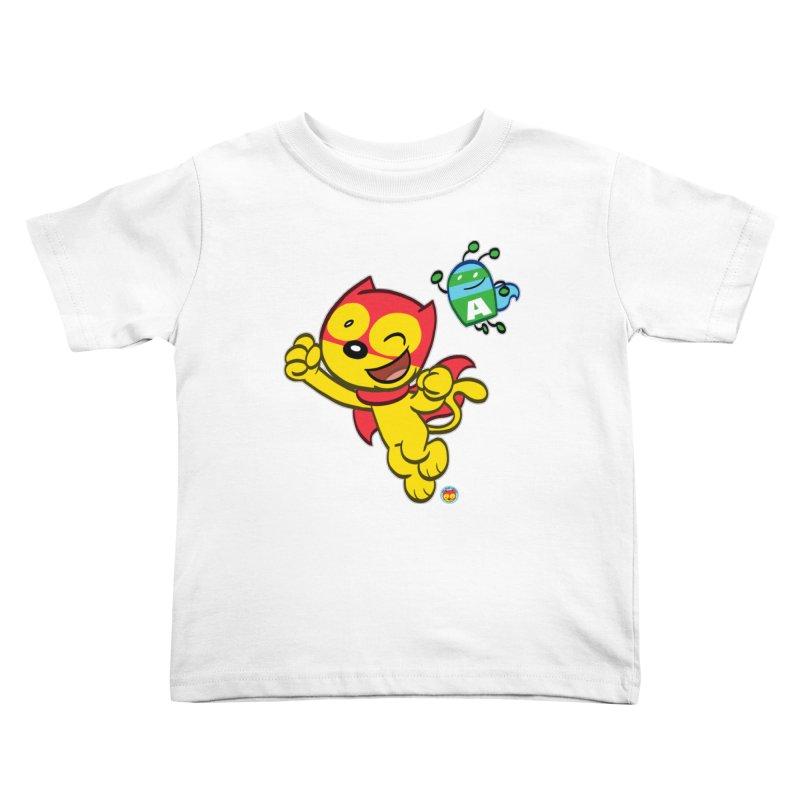 ACTION CAT & ADVENTURE BUG Kids Toddler T-Shirt by Art Baltazar