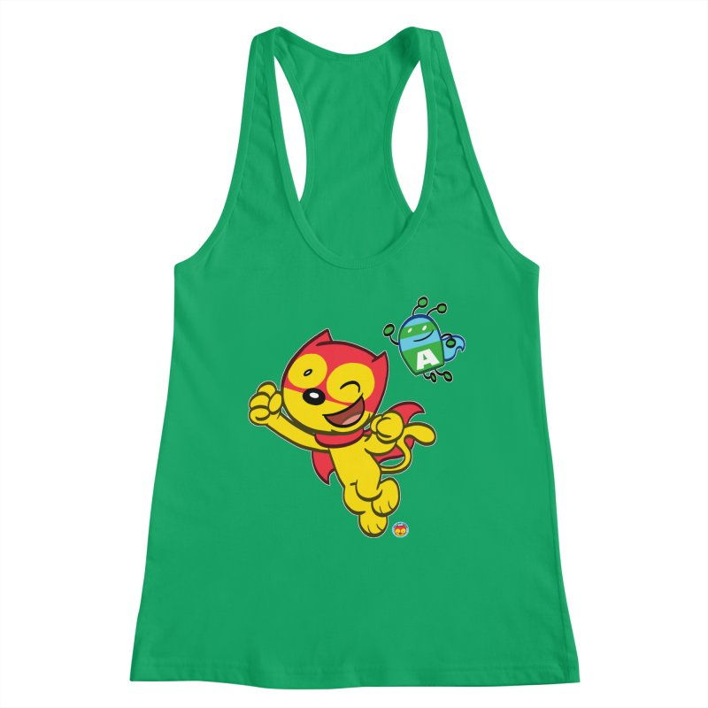 ACTION CAT & ADVENTURE BUG Women's Tank by Art Baltazar