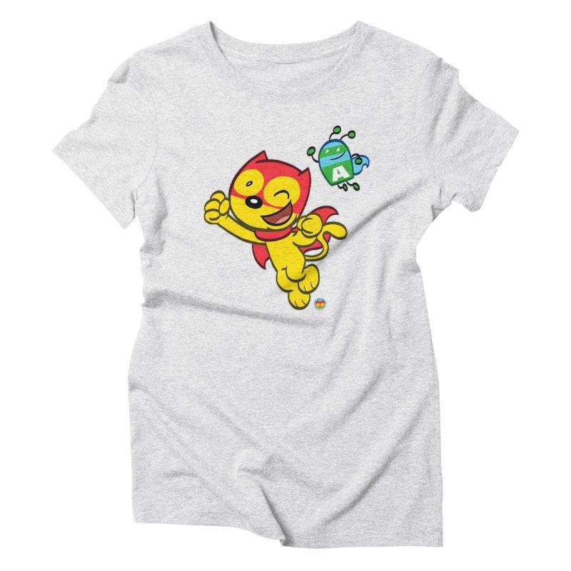 ACTION CAT & ADVENTURE BUG Women's T-Shirt by Art Baltazar
