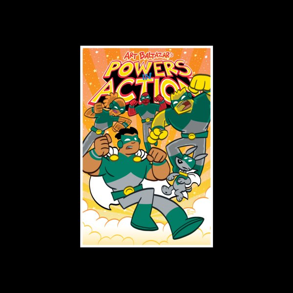 Design for POWERS IN ACTION #4 COVER!