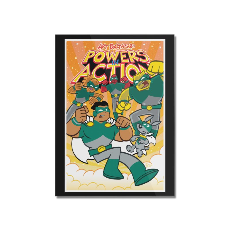 POWERS IN ACTION #4 COVER! Home Mounted Acrylic Print by Art Baltazar