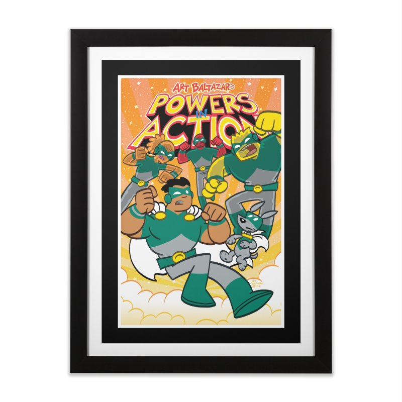 POWERS IN ACTION #4 COVER! Home Framed Fine Art Print by Art Baltazar