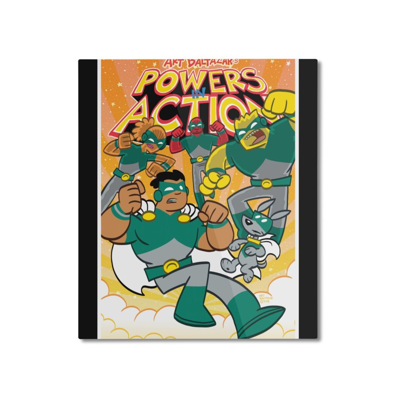 POWERS IN ACTION #4 COVER! Home Mounted Aluminum Print by Art Baltazar