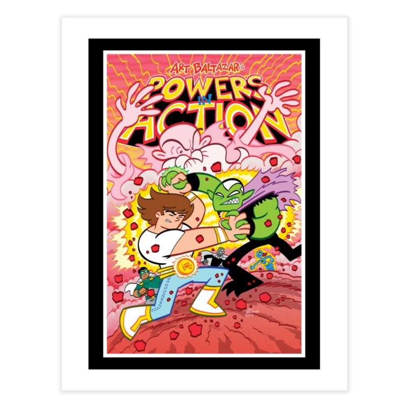 POWERS IN ACTION #3 COVER! Home Fine Art Print by Art Baltazar