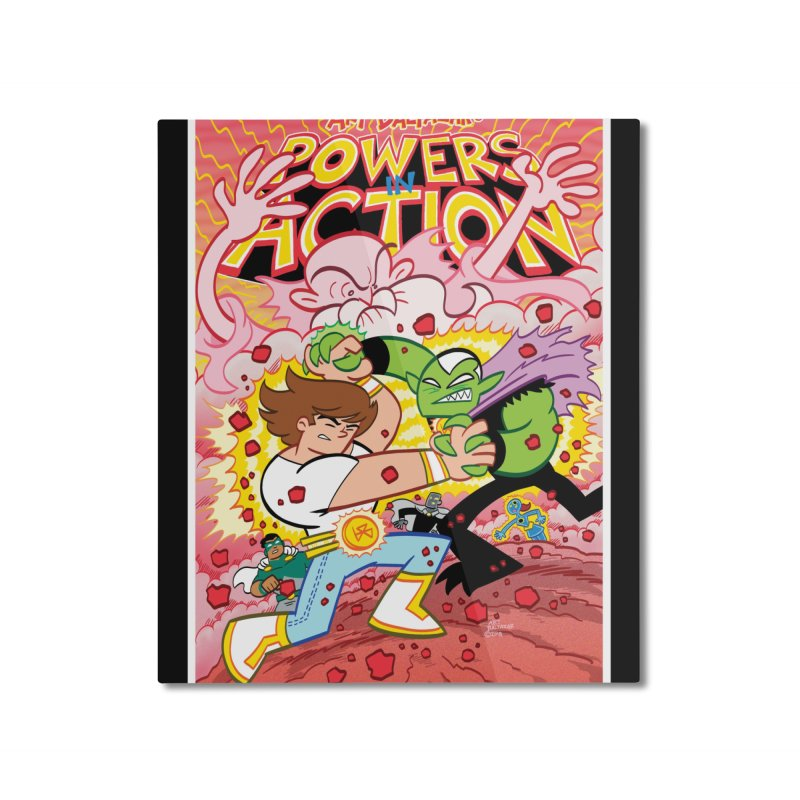 POWERS IN ACTION #3 COVER! Home Mounted Aluminum Print by Art Baltazar
