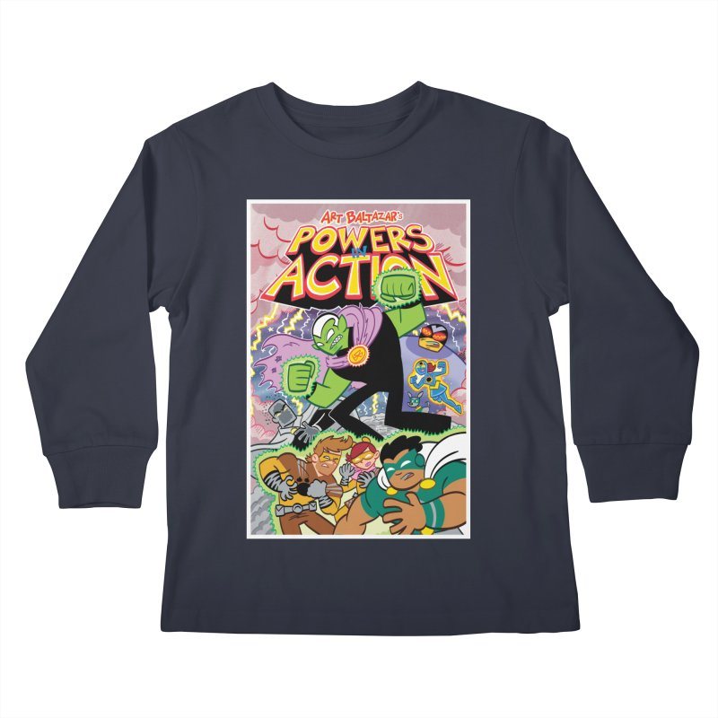 POWERS IN ACTION #2 COVER! Kids Longsleeve T-Shirt by Art Baltazar