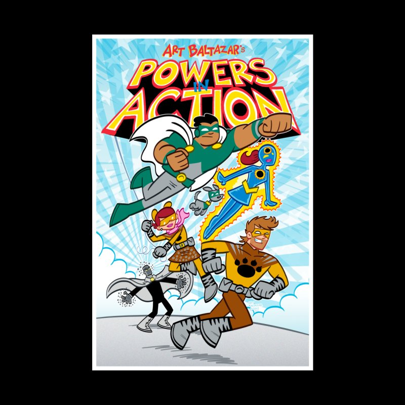 POWERS IN ACTION #1 COVER! Home Framed Fine Art Print by Art Baltazar