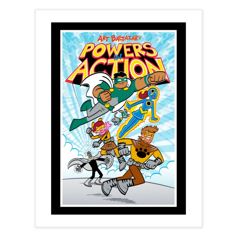 POWERS IN ACTION #1 COVER! Home Fine Art Print by Art Baltazar
