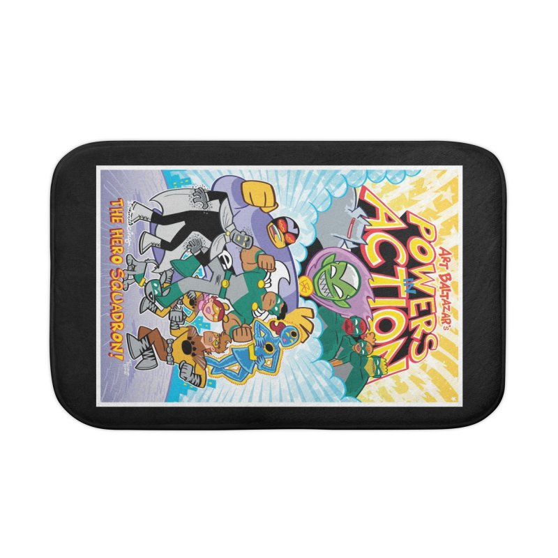 POWERS IN ACTION: THE HERO SQUADRON! Home Bath Mat by Art Baltazar