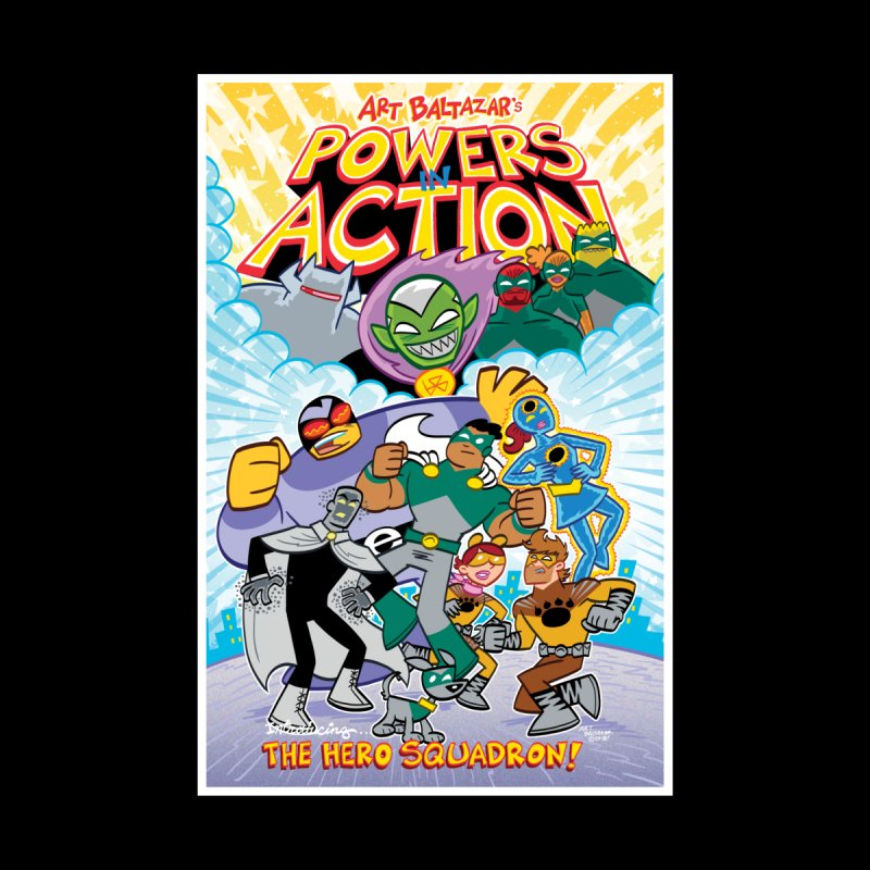 POWERS IN ACTION: THE HERO SQUADRON! Women's Sweatshirt by Art Baltazar