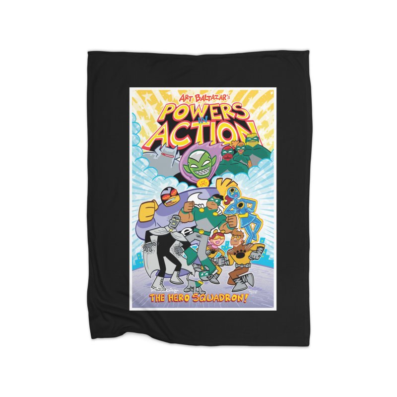 POWERS IN ACTION: THE HERO SQUADRON! Home Blanket by Art Baltazar