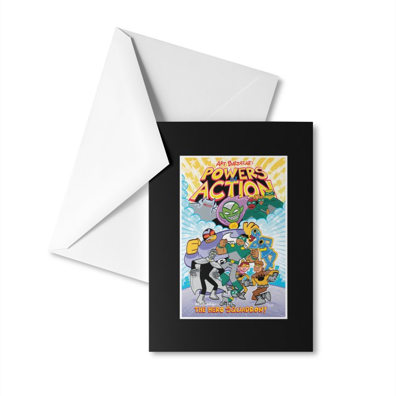 POWERS IN ACTION: THE HERO SQUADRON! Accessories Greeting Card by Art Baltazar