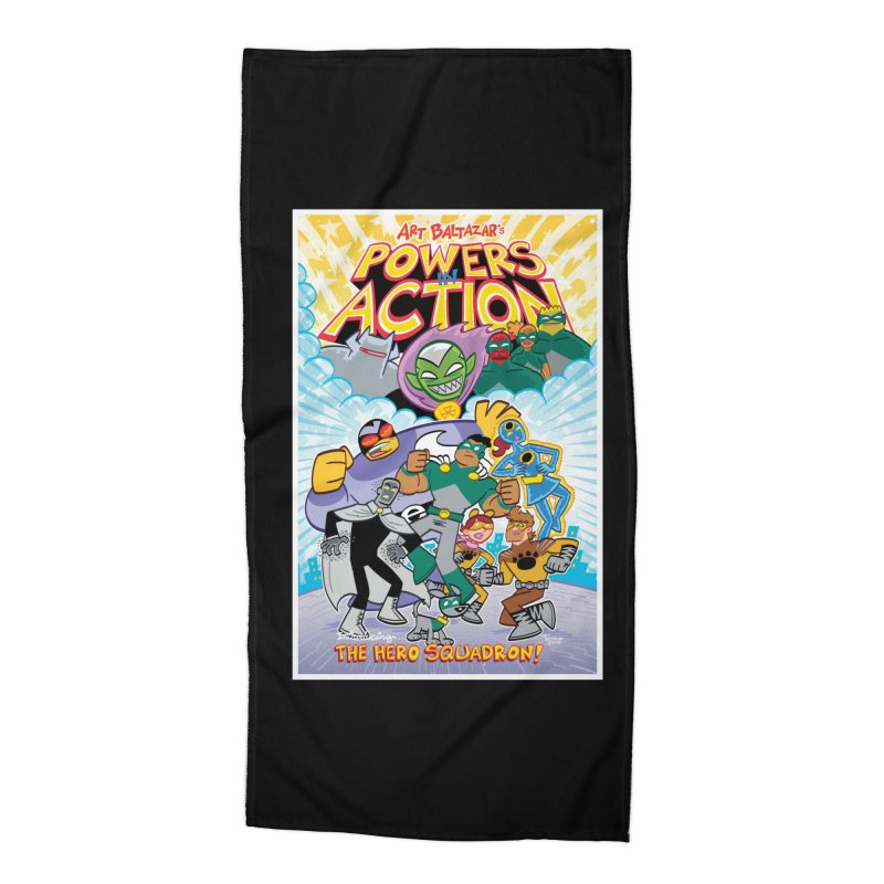 POWERS IN ACTION: THE HERO SQUADRON! Accessories Beach Towel by Art Baltazar