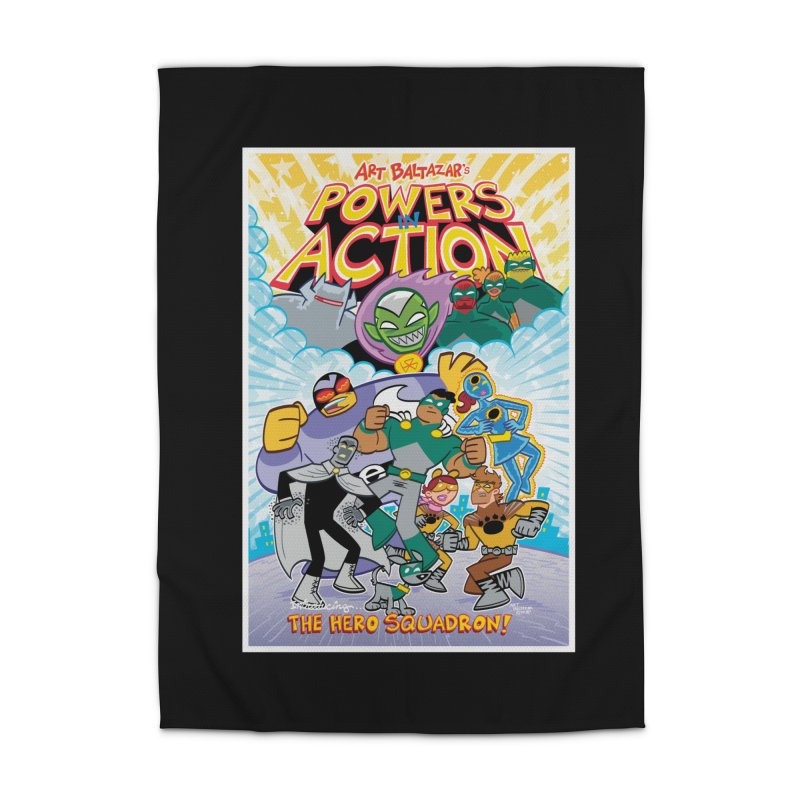 POWERS IN ACTION: THE HERO SQUADRON! Home Rug by Art Baltazar
