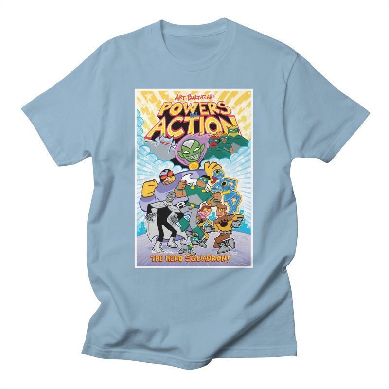 POWERS IN ACTION: THE HERO SQUADRON! Men's T-Shirt by Art Baltazar